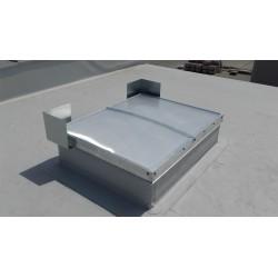 Pokrycie SRO gr.16mm - oddymianie elektryczne Podstawa stal-ocynk skośna H 50cm Jednoskrzydłowe